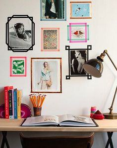 Deck out your wall with washi tape frames.