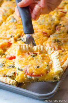 Heavenly Cheesy Southern Tomato Slab Pie Recipe