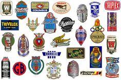 awesome retro bike badge's