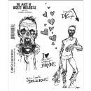 Art of Brett Weldele - Stampers Anonymous Rubber Stamps - Zombie Casanova