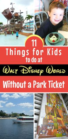 There are dozens of things to do at Disney World with your kids that don't even need a park ticket!. Here's what to do on a non-park day that doesn't require a ticket (and many are free!) #DisneyWorld