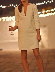 White Mod Dress via Emerson Fry