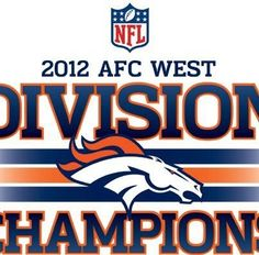 Congratulations to the 2012 AFC West Champions 694d816678402