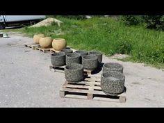 Бизнес идея - Вазон из натуральной каменной крошки - технологический процесс - YouTube