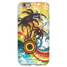Funky Abstract Palm Waves Beach iPhone 6 Slim Case