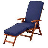 """Steamer Chair Cushion 72""""x20""""x3"""" - Nautical Blue"""