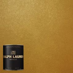 Ralph Lauren 1-qt. Parlor Gold Metallic Specialty Finish Interior Paint-ME138-04 - The Home Depot