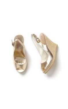 4b1a72de63f45 Kristin Leather Wedge - Gold Metallic. Wedge SandalsSummer SandalsGold  WedgesLeather ...
