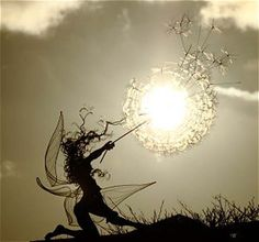 Wire sculptures made by an artist by slowly twisting them into fairies, so pretty
