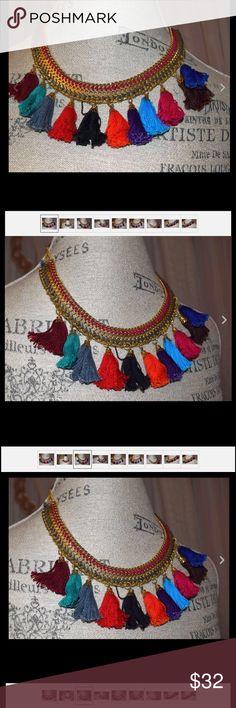 TURKISH HANDMADE  OTTOMAN  NECKLACE W, tassels TURKISH HANDMADE  OTTOMAN  NECKLACE W, tassels hand made Jewelry Necklaces