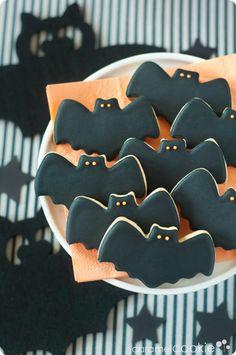 Cookies para Halloween con forma de murciélagos | Caramel Cookie