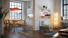 Three different homes that use white, wood, and stylish design elements to invoke the Scandinavian style. Scandinavian Interior, Scandinavian Design, Modern Interior Design, Interior Architecture, Dining Room Design, Dining Rooms, Dining Area, White Walls, Room Interior