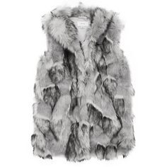 KRISTA FAUX-FUR GILET ($545) ❤ liked on Polyvore featuring outerwear, vests, faux fur vests, fake fur vests, faux fur waistcoat, faux fur gilet and gilet vest