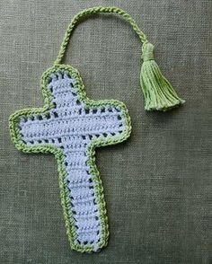 """Original Design By:Maggie Weldon Skill Level: Easy Sizes:(without tassels) Shell Stitch Cross: 6"""" tall x 4¾"""" wide Filet-Style Cross: 6"""" tall x 3½"""" wide Materials: Shell Stitch Cross:#3 Crochet Cotton"""