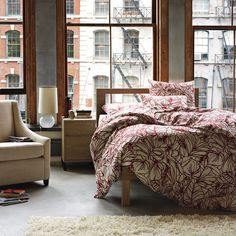 Sketch Duvet Cover + Shams - Maple | west elm