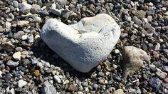 Heart shaped rock on my hike.
