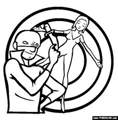 knife throwing online coloring page