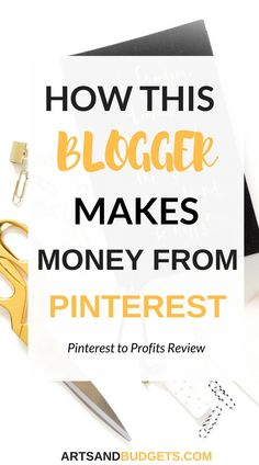 Looking for ways to make extra money? If so, check out this review on the Pinterest to profits e-course to see how this blogger make full-time income from Pinterest! --- Pinterest, ways to make extra money, side hustle, social media tips