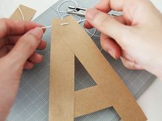 DIY Alphabet Bunting Made with Kraft Paper, 5 Easy Steps