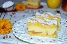 Prajitura grilaj cu mere si budinca de vanilie | MiremircMiremirc Romanian Desserts, Romanian Food, Cake Recipes, Dessert Recipes, G 1, Deli, Sweet Treats, Cheesecake, Deserts
