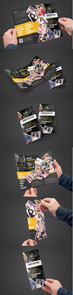 Photography Trifold Brochure Template PSD