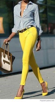 Pinterest Combinar Yellow Pantalones Amarillos Como Pants Ropa 8IfqT