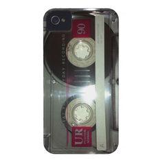 Vintage Cassette Tape - Clean iPhone 4 Case-Mate Case