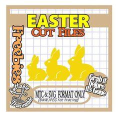 25 Days of Easter Freebies! Day 21 Bunnies Border short SVG MTC SCAL digital Cutting File
