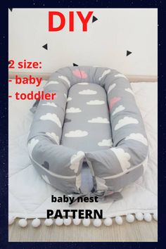 Pattern for sewing a baby nest with a removable mattress. Two size: - baby - toddler The cover is removble mattress. A cozy baby nest made of eco-friendly and hypoallergenic materials will create feeling of the kid's safety and comfort. Dock A Tot Grand, Doc A Tot, Sewing Hacks, Sewing Projects, Baby Nest Pattern, Snuggle Nest, Baby Mattress, Preparing For Baby, Baby Cover