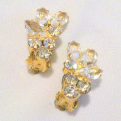 Vintage Prong Set Clear Rhinestone Cluster by BorrowedTimes