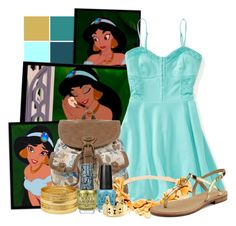 """""""Jasmine - Aladdin"""" by totallytrue ❤ liked on Polyvore featuring Disney, Aéropostale, Mantaray, Sperry Top-Sider, Forever 21, OPI, disney, disneybound, ShowUsYourDisneySide and DisneyColorByHammie"""