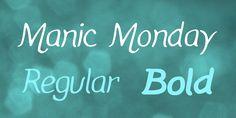 Manic Monday Font Family · 1001 Fonts