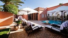 [LA MAMOUNIA®] Riads in Marrakesh in the Heart of La Mamounia's Gardens. Plenty of Rooms for a Family Stay in Marrakesh, Combining Relaxation and Privacy Marrakesh, Mamounia Marrakech, Marrakech Morocco, Hotels And Resorts, Best Hotels, Oasis, Relax, Luxury Tents, Leading Hotels