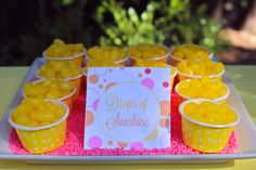 Instant Printable Food Labels- You Are My Sunshine Party by Bloom