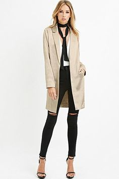 Buy it now. LOVE21 Women's  Champagne Contemporary Longline Metallic Blazer. STYLE Forever 21 Contemporary - This longline blazer is crafted from sheeny metallic fabric and is complete with a notched collar, open front, and long sleeves. Matching pants available.On-seam front pocketsWoven, partially lined100% polyesterDry cleanMade in VietnamFIT Measured from Small35.5%22 full length, 46%22 chest, 46%22 waist, 24.5%22 sleeve length , americana, americana, blazer, levita, levita, americanas…