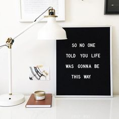 Decor com Letter Board - Fashionismo