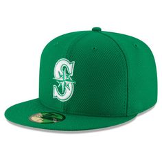 the best attitude 8ea4e d11b3 Men s Seattle Mariners New Era Green St. Patrick s Day Diamond Era 59FIFTY Fitted  Hat