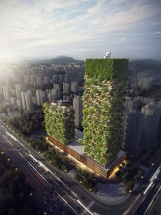"""China to build two """"Vertical Forest"""" buildings that will combat the country's air pollution #Nanjing #VerticalForest #tech #technews"""