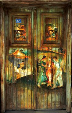Painted Door by Sercan Sümerli, …..I LOVE DOORS SUCH AS THIS…..GIVES A PERSON SOMETHING TO LOOK AT WHILE AWAITING THE DOOR TO BE OPENED………ccp