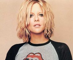 Meg Ryan Choppy Blonde Hair- I have always loved her hair!