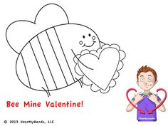 HearMyHands ASL: sign: VALENTINES. We created a free Valentine's Day sign language coloring page