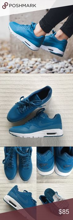 Women's Nike Air Max 1 Ultra Moire Blue Women's Nike Air Max 1 Ultra Moire Blue Style/Color: 704995-402  • Women's size 7.5  • NEW in box (no lid) • No trades •100% authentic Nike Shoes Sneakers