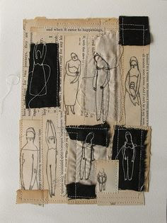 Fabric Journals, Art Journal Pages, Artist Journal, Fabric Manipulation, Textile Artists, Embroidery Art, Fabric Art, Collage Art, Fiber Art