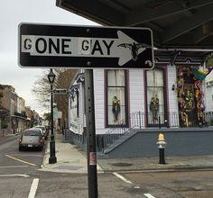 Jeremy Novy sign alteration in New Orleans, Louisiana (LP) Urban Intervention, Dragon Age Inquisition, Lesbian Love, Street Art, Street Style, Public Art, Graffiti Art, Urban Art, Art World