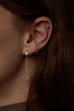 Rue Gembon Bambi Gold Earrings