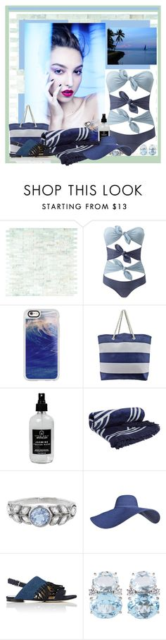 """""""Beach Resort"""" by jakenpink ❤ liked on Polyvore featuring Lisa Marie Fernandez, Casetify, Little Barn Apothecary, The Beach People, Cathy Waterman, 3.1 Phillip Lim and Christina Addison"""