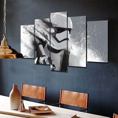 Star Wars Stormtrooper Storm Trooper 5 Piece Canvas - Star Wars Gift #starwars #decor #decoration
