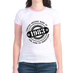 LIMITED EDITION MADE IN 1983 T-Shirt  #madein #limitededition #birthday #bday #year #age