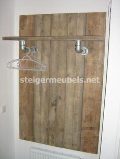 Steigerhouten Kapstok van gebruikt steigerhout