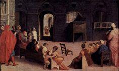 Domenico Beccafumi - Predica di San Bernardino - 1537 - tempera su tavola - Museo del Louvre